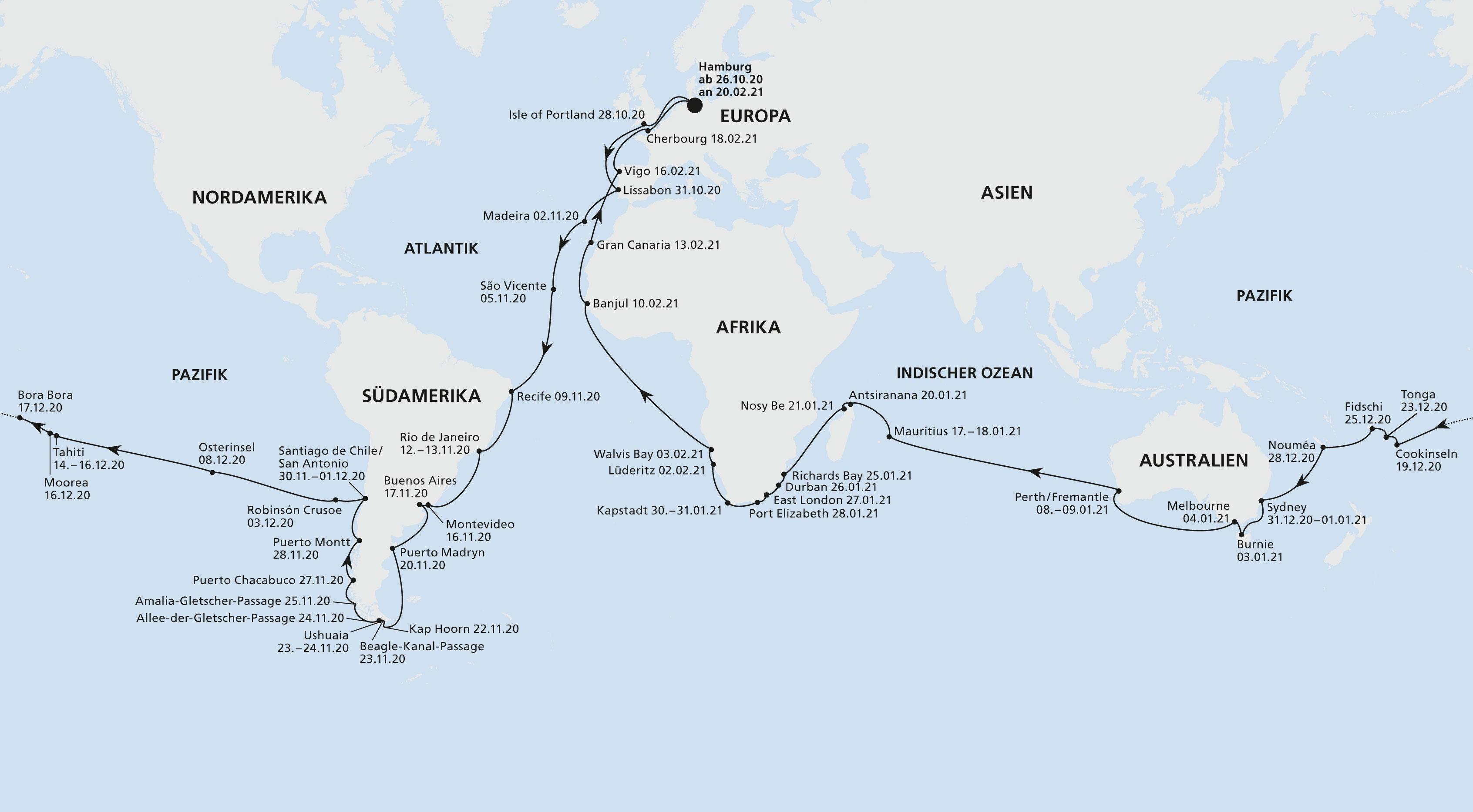 Weltreise AIDAaura