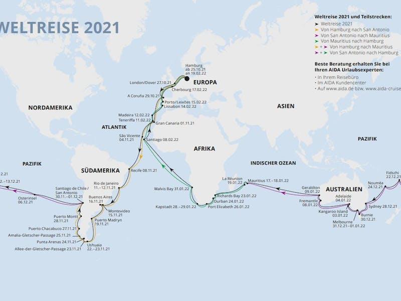 Von Mauritius nach Hamburg