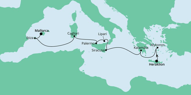 Von Kreta nach Mallorca 1